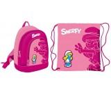 Plecak mini Smerfy z workiem na obuwie