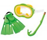 Maska fajka płetwy - zestaw do nurkowania