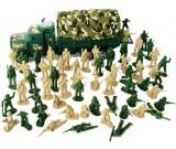 Zołnierzyki duża armia + ciężarówka z plandeką