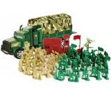 Zołnierzyki armia + ciężarówka z plandeką