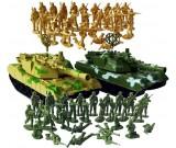 Żołnierzyki dwie armie + 2 czołgi