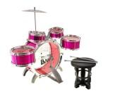 Perkusja akustyczna Band Jazz Drum - 5 bębnów różowa