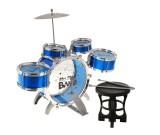 Perkusja akustyczna Band Jazz Drum - 5 bębnów niebieska