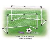 Bramka + piłka + pompka - zestaw piłkarski