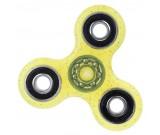 Spinner Fidget - brokatowy żółty