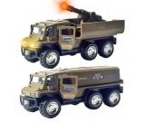 Ciężarówka metalowa Army UN z działem - światło i dźwięk