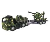 Ciężarówka wojskowa laweta + czołg + działo