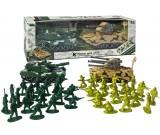 Żołnierzyki dwie armie + dwa czołgi (zestaw)