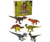 Dinozaur gumowy z dźwiękiem - zestaw 6 szt.