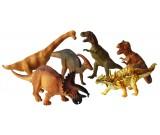 Dinozaur gumowy - zestaw 6 szt. folia