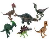 Dinozaur gumowy z jajkiem - zestaw 6 sztuk