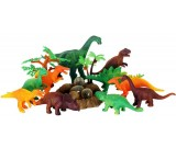 Dinozaury gumowe z gniazdem - zestaw 10 sztuk