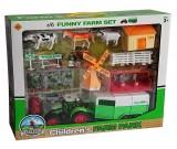Farma z traktorem i zwierzętami