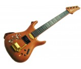 Gitara rockowa brązowa z metalowymi strunami