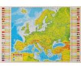 Podkład oklejany na biurko - Europa fizyczna