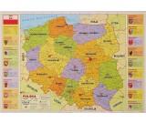 Podkład oklejany na biurko - Polska administracyjna