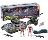 Żołnierze czołg działo - zestaw militarny