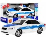 Policja radiowóz ze światłem i dźwiękiem