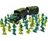 Zołnierzyki duża armia + ciężarówka z przyczepą