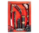 Kostium karnawałowy Wojownik Ninja Samurai - zestaw akcesoriów