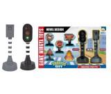 Makieta - sygnalizator świetlny fotoradar znaki drogowe - zestaw