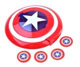 Wyrzutnia dysków - Kapitan Ameryka strzelająca tarcza