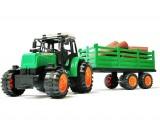 Traktor + przyczepa z drewnem 55 cm.