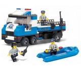 Sluban - Special Police transporter policyjny z motorówką