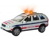 Auto metalowe Volvo XC90 - pogotowie 1:34 światło i dźwięk