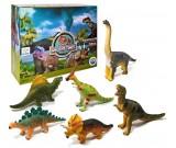 Dinozaur gumowy - zestaw 6 szt.