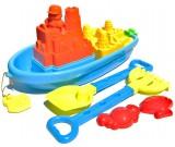 Zestaw do piasku - statek z akcesoriami