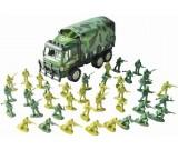 Zołnierzyki duża armia + ciężarówka Army Force z plandeką